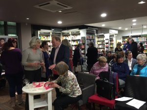 Our amazing editor Angie Macmillan signs copies of the book for an eager audience
